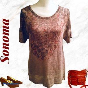 Sonoma Short Sleeve Design Lightweight Sweater